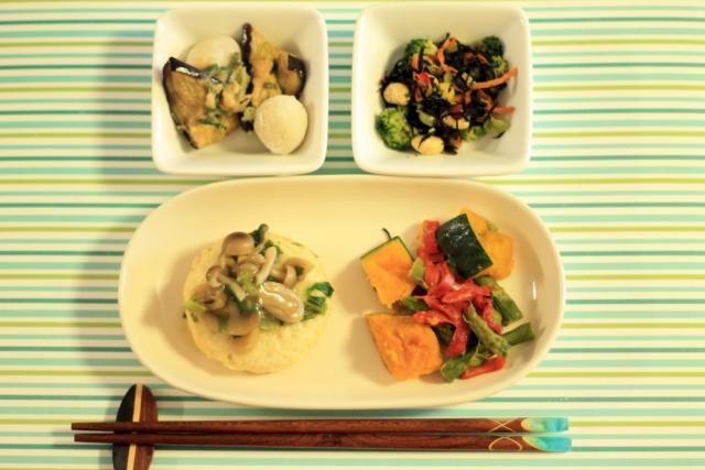 おまかせ健康三彩 豆腐ハンバーグきのこソース12
